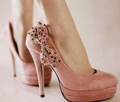 Bow high heels