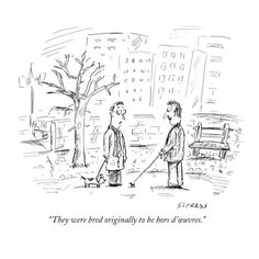 """Cartoon Drawing Tips Premium Giclee Print: """"They were bred originally to be hors d'œuvres."""" - New Yorker Cartoon by David Sipress : - Drawing Cartoon Characters, Cartoon Posters, Character Drawing, Cartoon Drawings, New Yorker Cartoons, Funny Images, Funny Pictures, The New Yorker, Funny Cards"""