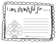 "Fun For First: Make an ""I Am Thankful"" list"