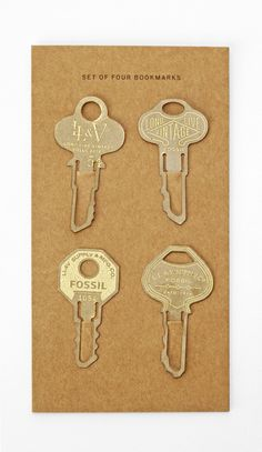 Fossil key bookmarks for Surprise and Delight gifts.