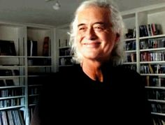 "Jimmy Page at home in ""It Might Get Loud"" click on pic for gif..."