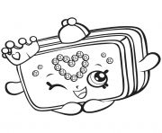 Print Season 7 Shopkins Princess Purse Coloring Pages Shopkin