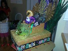 Laynie's mardi gras shoe box float