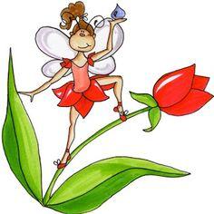Dibujos de hadas y flores