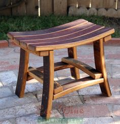 Barrel Stave Chair -- so cool! Want one of these for the desk area in our kitchen!