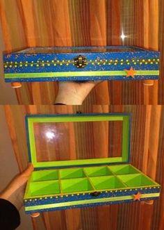 Caixa bijuteria pintada