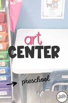 The Art Center in a preschool classroom is a place for children to explore different art materials, express themselves through creativity and use fine motor skills. See what is inside my Art Center. Art Center Preschool, Preschool Classroom, Preschool Art, Preschool Activities, Play Based Learning, Learning Centers, Classroom Organization, Organization Ideas, Center Labels
