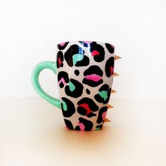 Spiked leopard cup<3 I want! <3