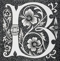 Decorative capital letter B