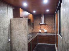 ปูนขัดมัน loft ☎️ 083 3257 281 LINE ID : mee26pla Concrete Kitchen, Concrete Countertops, Kitchen Countertops, Kitchen Furniture, Kitchen Dining, Furniture Design, Dining Room, Dirty Kitchen, Small Spaces