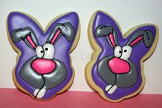 1 dozen Easter bunny cookies by TrilogyEdibles on Etsy, $36.00