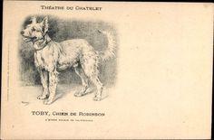 Künstler Ak Toby, Chien de Robinson, Rassehund, Théâtre du Chatelet - 992246