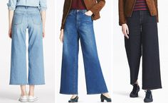 Why the high rise wide fit Uniqlo jean are our new obsession. Best Jeans, Mom Jeans, Uniqlo Jeans, Wide Jeans, Casual Chic, Editor, Bell Bottom Jeans, Perfect Fit, Cool Style