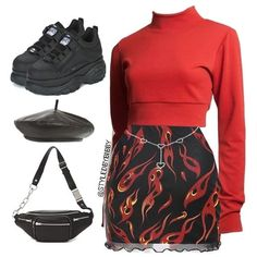 Like my look? Edgy Outfits, Swag Outfits, Retro Outfits, Cute Casual Outfits, Fashion Outfits, Kpop Fashion, Teen Fashion, Womens Fashion, Festival Looks