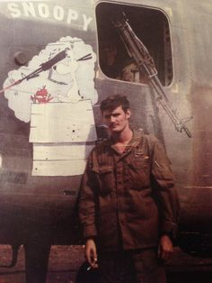 Snoopy artwork on a CH-47 Chinook assault helicopter ~ Vietnam War