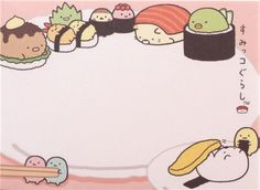 small memo pad from Japan with bear and penguin cooking, cat and cutlet eating, tapioca etc. helping