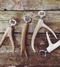 This bottle opener has an antler attached for better grip as you open your favorite brew. Each rustic bottle opener is unique — constructed with an authentic antler and finished off with stainless steel hardware.