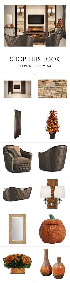 """""""Autumn Home 1"""" by mysfytdesigns ❤ liked on Polyvore featuring interior, interiors, interior design, home, home decor, interior decorating, Bungalow Flooring, Improvements, Williamsburg and Uttermost"""