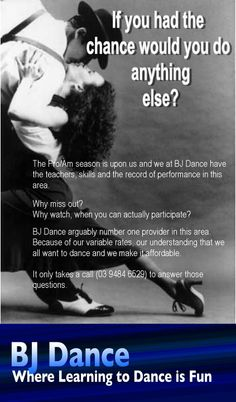 BJ Dance, leading the way in Professional partnering skills. Why would you you anything else?