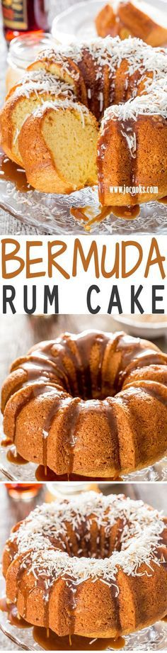 This Bermuda Rum Cake is the ultimate when it comes to boozy cakes and it does not come from a box mix. The best homemade rum cake recipe. This cake is definitely boozy, sweet and citrusy and it's glazed with a delicious butter and dark rum glaze.