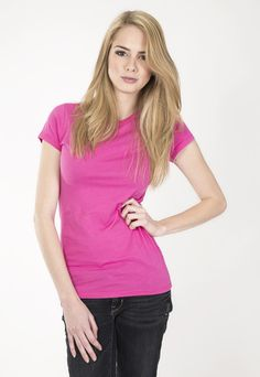 """Ladies basic short sleeve crew.  www.jsapparel.net Enter special code """" JSFRIENDS """" and get 20% off on purchase. Limited time only. All JS product made in USA."""