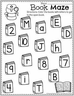 Letters or Numbers Sorting Page for Preschool - Back to School Theme #backtoschool #preschool #preschoolworksheets #planningplaytime #letterworksheets