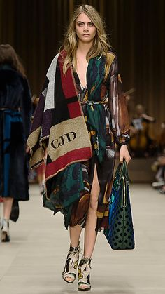 Burberry Monogrammed Blanket Poncho