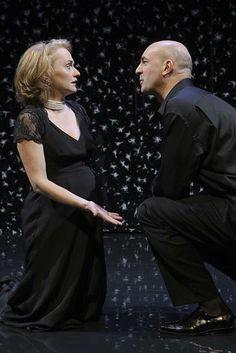 Daniel Stewart (Leontes) and Connan Morrissey (Hermione), The Winter's Tale, directed by Blake Robison, Folger Theatre, 2009. Carol Pratt.