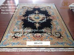 Handmade wool silk carpet with nice design. 260 Lines, 470 kpsi, Size:220x310cm  alice@yilongcarpet.com WhatsApp: 0086 156 3892 7921