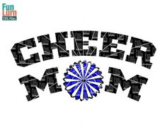 CheerMom SVG Cheer Mom CheerleaderGame cheer by FunLurnSVG on Etsy