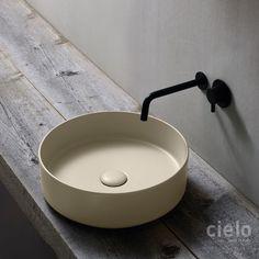 Lavabo cuadrado 40 Shui Comfort - Lavabo color de baño Ceramica Cielo