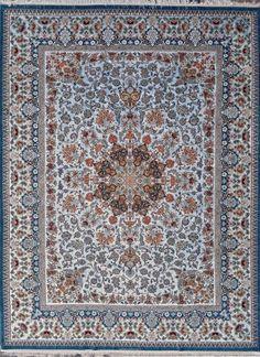 Grand Masterpiece Isfahan Sky Blue Persian Rug 10x13 by Tableaurug