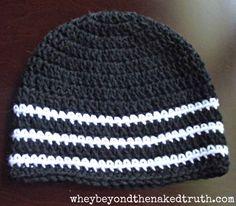 Crocheted Skull Caps