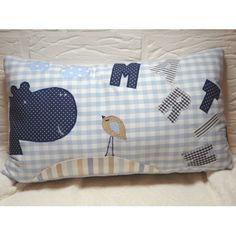 personalisiertes Kissen Namenskissen Schmusekissen Handmade 30x50cm Baby Geburt