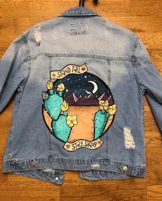 Another hand-painted jacket I made :) : somethingimade