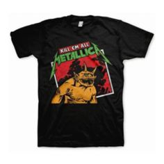 Metallica Kill Em All Tilted T-Shirt - Go back to the beginning with this Metallica Kill 'Em All Tilted T-Shirt featuring artwork from their debut album.