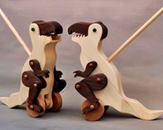 Wiggle Worm Pull Toy wooden Waldorf Animal on by ArksAndAnimals