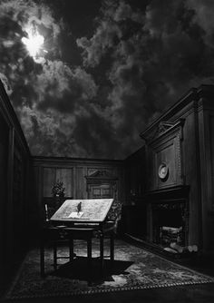 Jerry Uelsmann - is it bad that I want this to be my writing room, sky and all? Bcuz I think its inspiring!