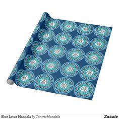 Blue Lotus Mandala Wrapping Paper