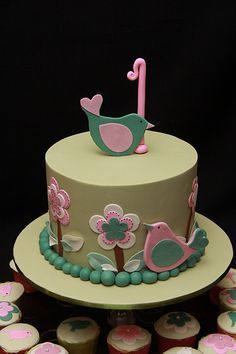 So cute!! Love the cake and it matches my baby girl's room theme!! I think this maybe her 1 year bday cake:)