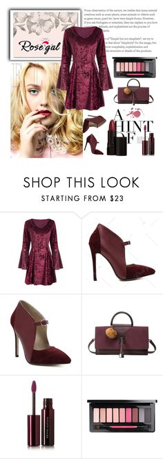 """Burgundy Dress"" by zenabezimena ❤ liked on Polyvore featuring Kevyn Aucoin, Serge Lutens, polyvoreeditorial and rosegal"