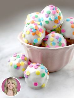 Have a Ball! Bakerella's Confetti Brownie BonBons - make in shades of blue