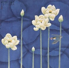 "non conspiracy orchestra- non conspiracy orchestra gardenofthefareast: ""Zhou Yansheng (周彦生)"" - Art Lotus, Lotus Kunst, Japanese Painting, Chinese Painting, Chinese Art, Art Floral, Korean Art, Asian Art, Japanese Prints"