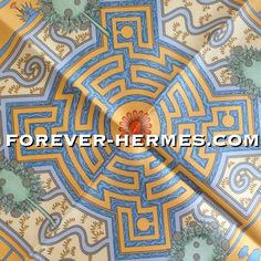 "In our store! http://forever-hermes.com #ForeverHermes this couture house Hermes Paris's silk scarf titled Paridaiza designed by Eugene Brunelle featuring a #paradise #maze of #fish and #gardens in old #Persian language this was the word for ""Enclosed Garden""! Can be confounded with the #Belgium #ThemePark & #botanical gardens #PairiDaiza though for sure #HermesParis didn't expec that! #dapper #gentleman #tree #MensSuit #MensWear #mensfashion #womensfashion #womenswear #WallDecor #Hermes"