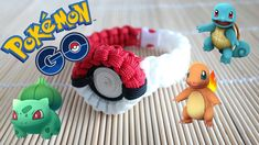 How to Make the Pokemon Go! Pokeball Paracord Bracelet Tutorial You can find all the paracord products used in this video through my affiliate links here: Im. Paracord Tutorial, Paracord Knots, 550 Paracord, Paracord Bracelets, Bracelet Tutorial, Knot Bracelets, Survival Bracelets, Parachute Cord Crafts, Make A Pokemon