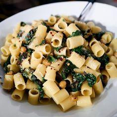 Pantry mezzi rigatoni w/ greens for an impromptu party  on #giadaentertains today! 12e|11c @foodnetwork