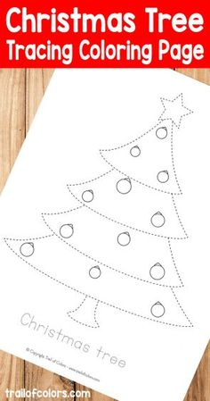 Christmas Tree Tracing Coloring Page for Kids - Trail Of Colors Free Kids Coloring Pages, Printable Coloring Pages, Coloring Books, Colouring, Christmas Tree Coloring Page, Christmas Coloring Sheets, Christmas Colors, Kids Christmas, Christmas Crafts