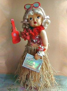 Vintage 1950's Hawaiian Terri Lee Doll and Accessories #DollswithClothingAccessories