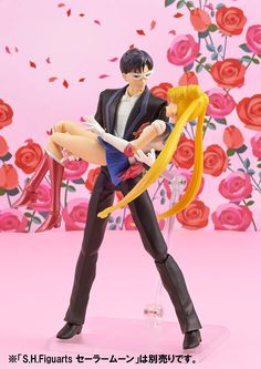 MOONIE MERCH OF THE DAY: #TuxedoMask Action Figure! Links here --> http://www.moonkitty.net/buy-bandai-tamashii-nations-sailor-moon-sh-figuruarts-figures-models.php #SailorMoon #Anime