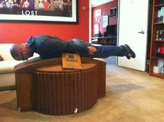 Damon Lindelof planking on the hatch!
